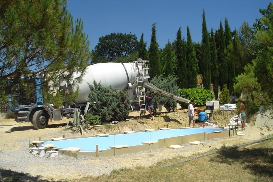 Afvullen met beton