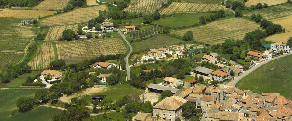 Luchtfoto van de vakantie Villa